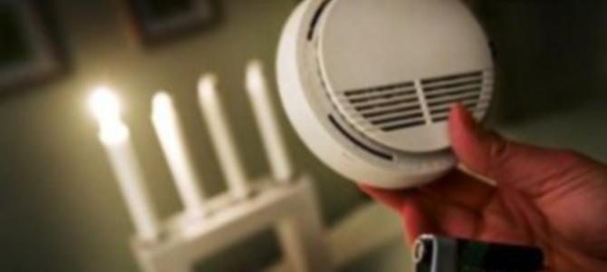 Inför advent och jul – Kontrollera din brandvarnare !